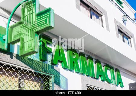 Spanish Farmacia pharmacy chemist chemists - Stock Photo