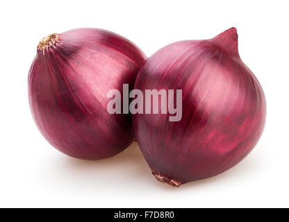 red onions isolated - Stock Photo