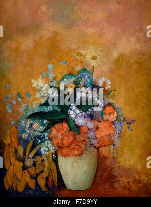Vase of Flowers - Odilon Redon 1905 - Stock Photo