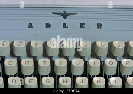 Antique Triumph Adler Gabriele20 mechanical typewriter - Adler logo - Stock Photo