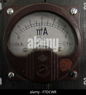 Russian Aircraft Plane Dial Indicators from USSR hardware - Stock Photo