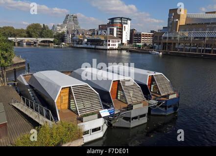 Houseboats Kingston upon Thames, London, England,UK Two bedroom - Stock Photo