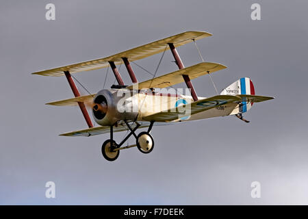 G-BWRA, The Great War Display Team's replica of the first Sopwith Triplane prototype, N500. - Stock Photo