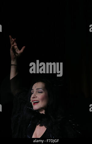 Frankfurt, Germany. 29th Nov, 2015. Russian singer Karina Schwarz from Moscow performs at the International Theater - Stock Photo