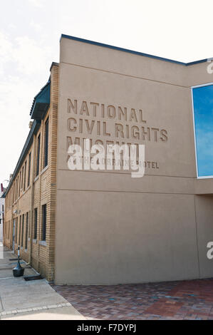 The National Civil Rights Museum at the Lorraine Hotel in Memphis Tennessee where Martin Luther King assassinated in 1968