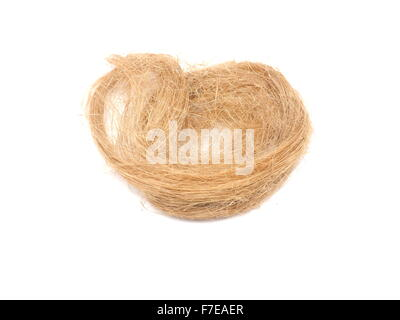 plumbing flax on a white background - Stock Photo