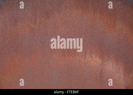 rusted metal plate background or brown iron texture - Stock Photo