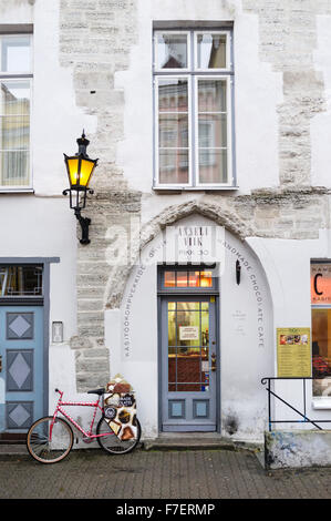 Anneli Viik Chocolate Cafe in the Old Town of Tallinn, Estonia - Stock Photo