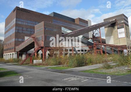 Zollverein Coal Mine Industrial Complex is landmark of the Ruhr area, monument of industrial culture and symbol - Stock Photo