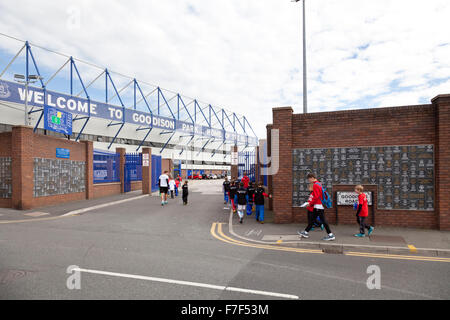 Documentary pictures Everton FC, Goodison to Liverpool FC, Anfield, Liverpool, England - Stock Photo