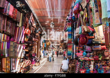 The souk in Marrakech, Morocco. - Stock Photo