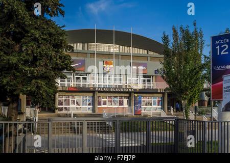 Exterior of the sporting venue, Palau Blaugrana, Camp Nou, Barcelona, Catalonia, Spain - Stock Photo
