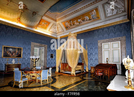 Italy Campania Caserta Royal Palace ( Reggia ) The room of the queen - Stock Photo