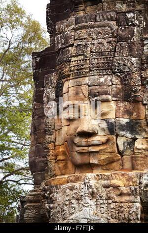 Faces of Bayon Temple, Angkor Thom, Cambodia, Asia