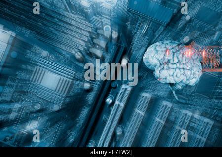 Human brain and communication - Stock Photo