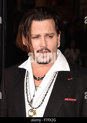JOHNNY DEPP US film actor in November 2015. Photo Jeffrey Mayer - Stock Photo