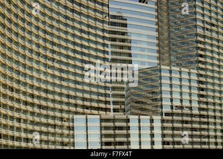 Hotel windows in Las Vegas, Nevada - Stock Photo
