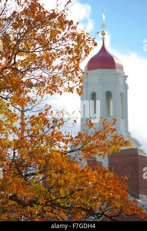 Autumn at Harvard University in Cambridge, Massachusetts near Boston - Stock Photo
