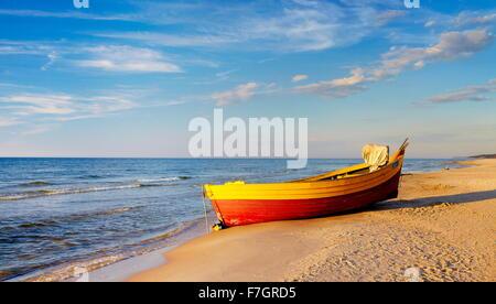 Baltic Sea landscape, Pomerania, Poland - Stock Photo