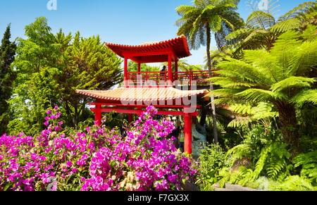 Japan japanese oriental flower garden Monte Palace Tropical Garden  - Madeira Island, Portugal