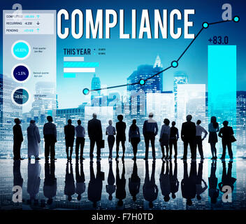 Compliance Procedure Regulations Risk Strategy Concept - Stock Photo