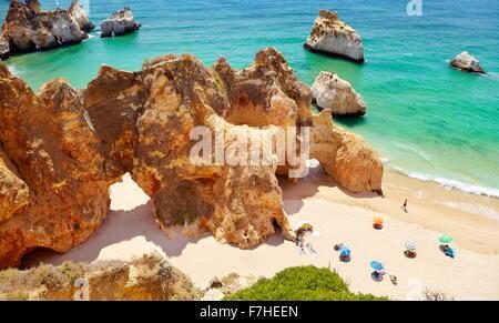 Prainha Beach near Alvor, Algarve, Portugal - Stock Photo
