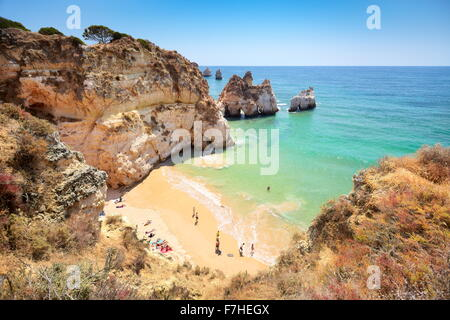 Prainha Beach near Alvor, Algarve, Portugal - Stock Photo