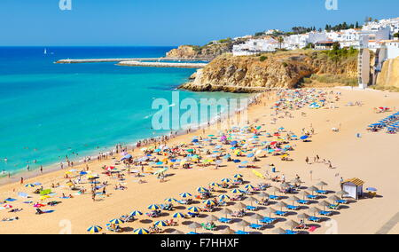 Albufeira Beach, Algarve coast, Portugal - Stock Photo