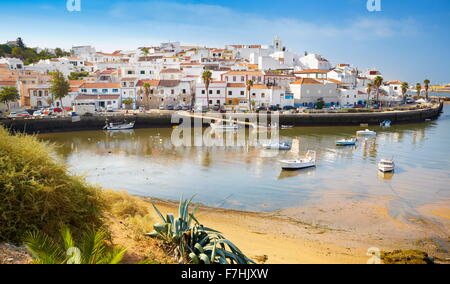 Ferragudo, Algarve, Portugal - Stock Photo