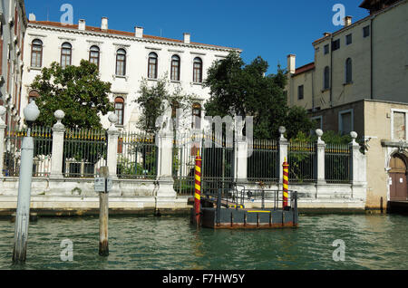 Venice, Italy, Grand Canal Casino and its gardens - Stock Photo