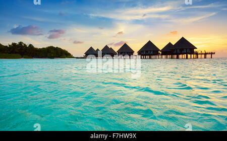 Sunset at Maldives Islands
