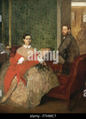 Edgar Degas - Edmondo and Thérèse Morbilli - Stock Photo
