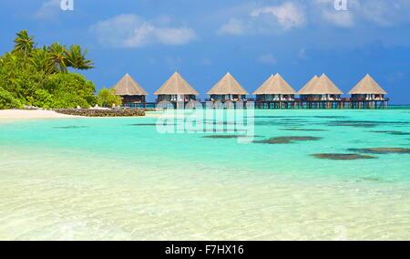Tropical beach at Ari Atoll, Maldives Islands, Indian Ocean