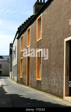 Victoria Street looking towards Union Street and Clay Loan Kirkwall Orkney Islands Scotland UK - Stock Photo