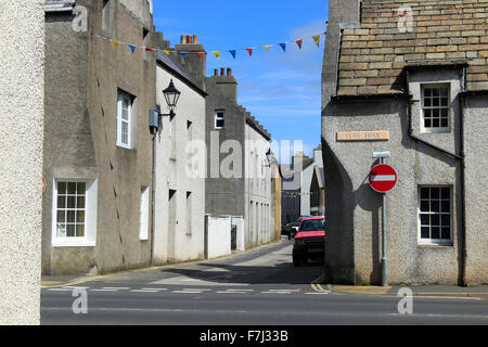 Clay Loan and Union Street looking towards Victoria Street Kirkwall Orkney Islands Scotland UK - Stock Photo
