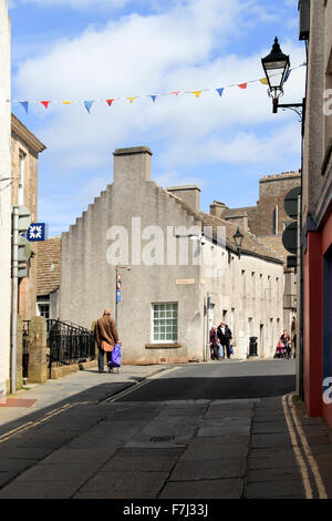 Victoria Street looking towards Broad Street Kirkwall Orkney Islands Scotland UK - Stock Photo