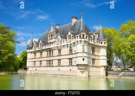 D'Azay-le-Rideau Castle, Loire Valley, France - Stock Photo