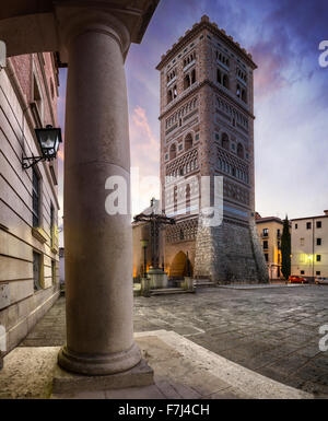 Mudejar Tower of San Martin in Teruel, Spain - Stock Photo