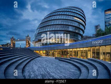 City Hall, London, England, UK - Stock Photo