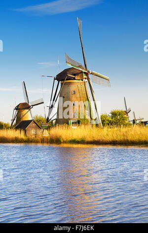 Kinderdijk windmills - Holland Netherlands - Stock Photo
