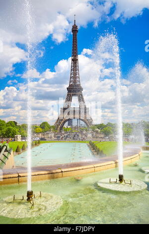 Eiffel Tower, Paris, France - Stock Photo