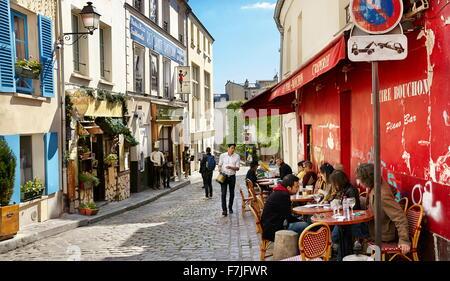 Montmartre District, Paris, France - Stock Photo