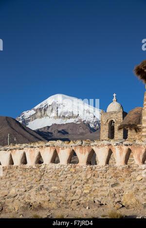 Church in the Sajama National Park, Bolivia - Stock Photo