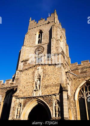 St Peters Redundant Church on Market Hill in Sudbury Suffolk England - Stock Photo