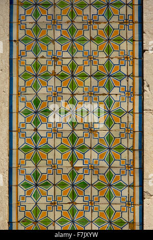 Typical portuguese colourfull azulejos background - Stock Photo