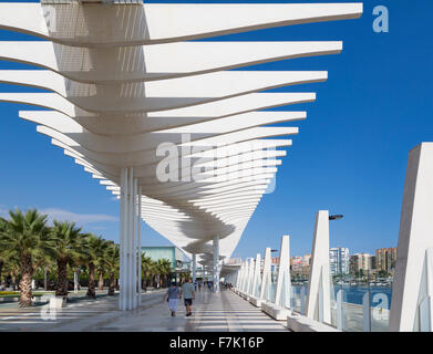 Malaga, Costa del Sol, Malaga Province, Andalusia, southern Spain. Muelle Uno (Dock One).  Seaside promenade at - Stock Photo