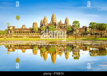 Angkor Wat Temple, Cambodia, Asia (UNESCO) - Stock Photo