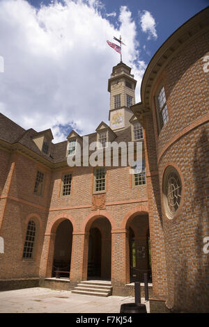 The Capitol Building of Colonial Williamsburg, Virginia, where in this building Patrick Henry, George Washington, - Stock Photo