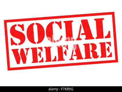 SOCIAL WELFARE red Rubber Stamp over a white background. - Stock Photo