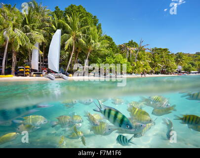 Thailand beach - tropical scenery at Ko Samet Island, Thailand, Asia - Stock Photo